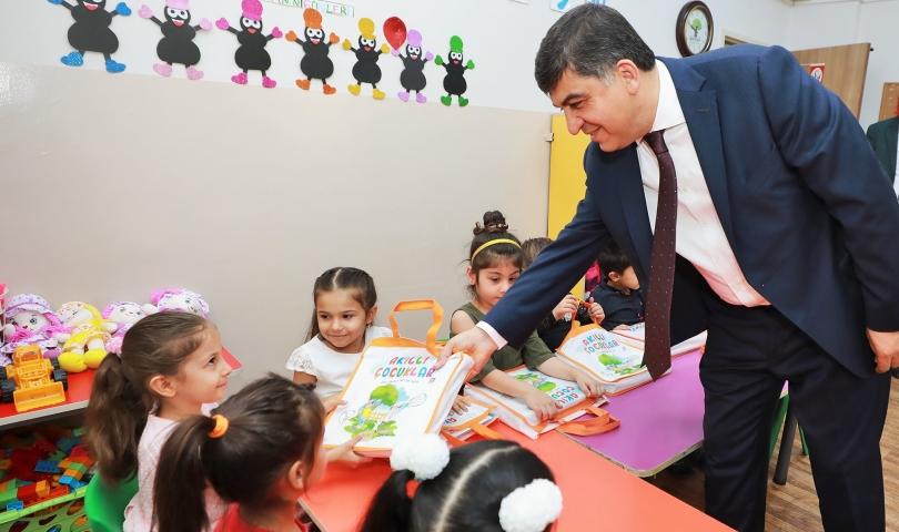Başkan Fadıloğlu'nun moral ziyareti miniklerin yüzünü güldürdü