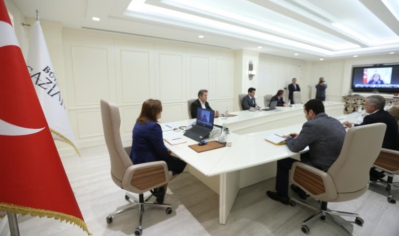 Başkan şahin, telekonferans aracılığıyla basın mensuplarıyla buluştu