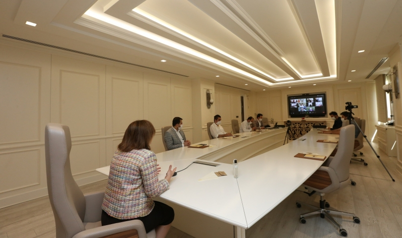 Başkan Şahin, yetim aileleriyle telekonferansta buluştu
